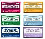 Dr. Bronner's Pure-Castile Bar Soap Variety Gift Pack- 5oz, 6 Pack