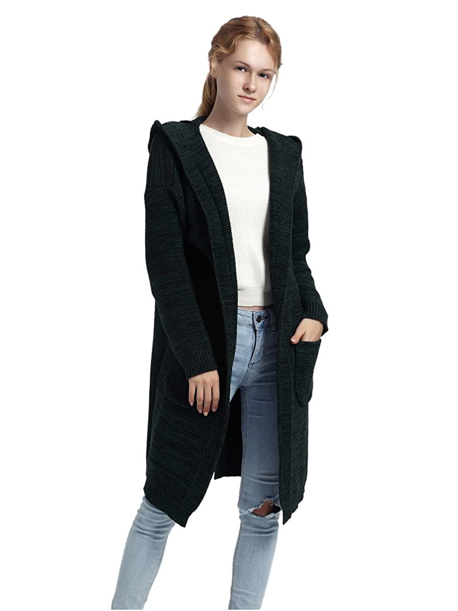 BuyThem Women Sweaters Cardigans, Long Coat with Pockets Warm Soft Fashion Clothes 5
