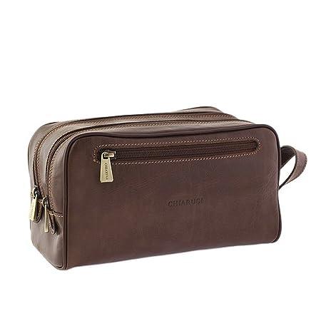 cb4abfe34c94 Chiarugi Italian Leather Toiletry Wash Bag - Brown: Amazon.co.uk: Luggage