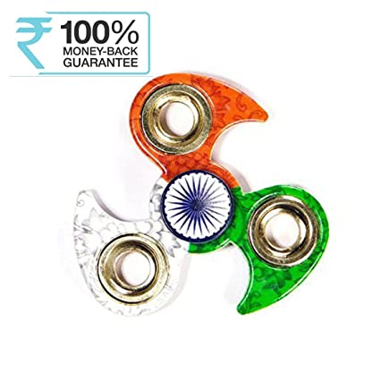Buy Meya Happy Indian Flag Tri Colour Print Fid Metal Hand