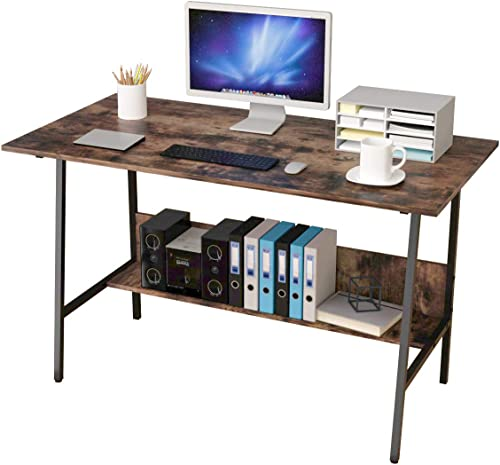 Bangoyopi Home Office Desk 47×24'' Workstation Vintage Sturdy Computer PC Writing Laptop Table