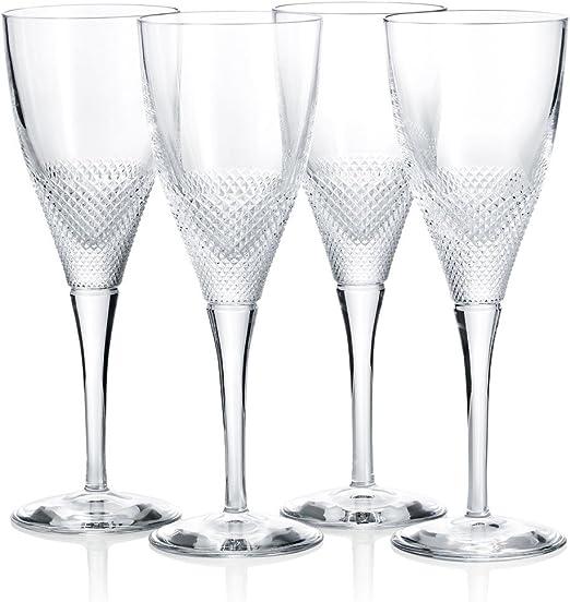 Vista Alegre esplendor blanco copas de vino blanco, juego de 4 ...