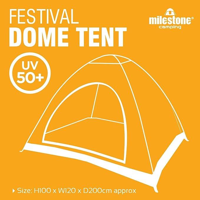 Milestone Camping 1 Dome Tent Camping 18829-Tienda de campaña ...
