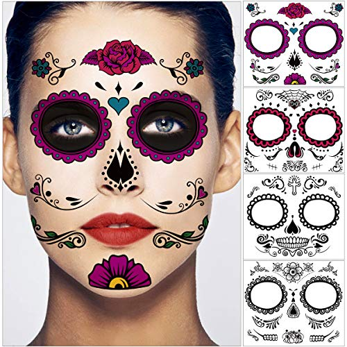 Sugar Skull Face Makeup - Unomor Day of The Dead Sugar