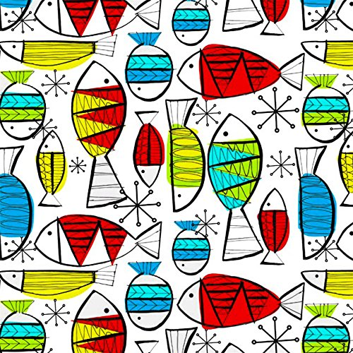 FUNKY FISH Decal Fused Glass or Ceramics