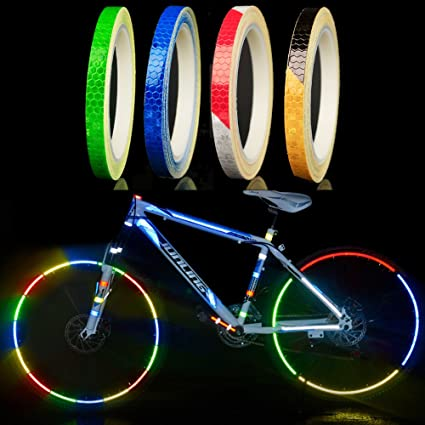 Bicicleta reflectantes Pegatinas, 4 unidades, neumáticos de pegatinas para bicicleta, moto, pegatinas