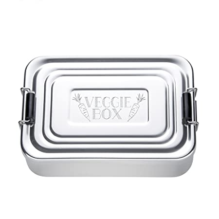 Crazy Kitchen Silver Lunchbox Made From Aluminium Beautifully Etched Veggie Box Standard