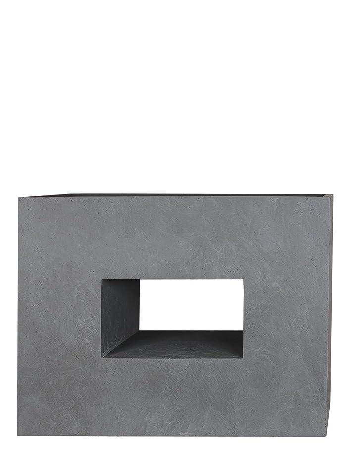 PFLANZWERK® Pflanzkübel Fiberglas VISTA Grau 53x75x27cm XXL ...