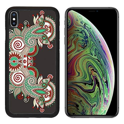 MSD Apple iPhone Xs MAX Case Aluminum Backplate Bumper Snap Case Image ID 27417742 Neckline Ornate Floral Paisley Embroidery Fashion Design Ukrainian et