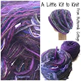 Boutique Yarn Slouchy Hat Knitting Kit Purple