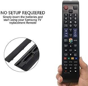 MYHGRC BN59-01198Q Mando a distancia de repuesto para TV Samsung UE43J5500AK J5500 FHD plano Smart TV LED para Samsung T32E390SX Smart TV LED UA32J5500AW UA40J5500AW UA40J6200AW UA40JU6400 W UA48J6200AW: Amazon.es: Electrónica