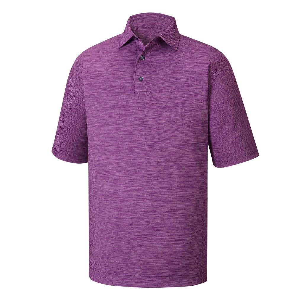メンズFootjoy Lisle Space Dyed Self Collarシャツ B06XT36XPV Small|バイオレット バイオレット Small