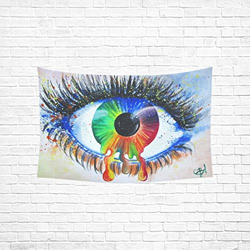XINGCHENSS Painting Watercolour Eye Iris Surreal Artistic Ta