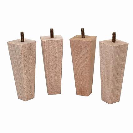 Amazon.com: Weichhuan - Juego de 4 patas de madera de haya ...