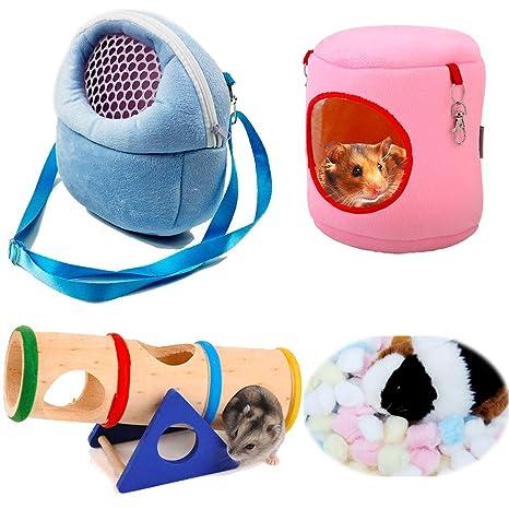 Aisamco Bolsa de transporte para mascotas, hámster, portátil, transpirable, bolsa de salida
