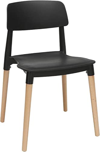 OFM 161 Collection Mid Century 4 Pack Modern 18″ Plastic Molded Dining Chair