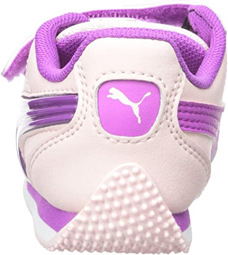 PUMA Infants Babies Toddlers Shoes Game Point Lights 2 Straps White Purple Pink