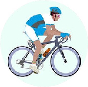 alfombrilla de ratón Vector Celeste Blanco Ciclista que compite ...