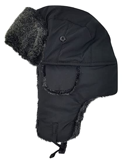 3b399170f5a6c Image Unavailable. Image not available for. Color  Delano Nylon Big Kid Boys Girls  Children Winter Trooper Trapper Hat Russian Hunting Faux Fur