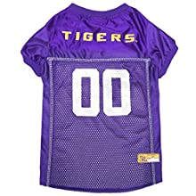 Pets First NCAA Louisiana State University Tigers Dog Jersey, Large