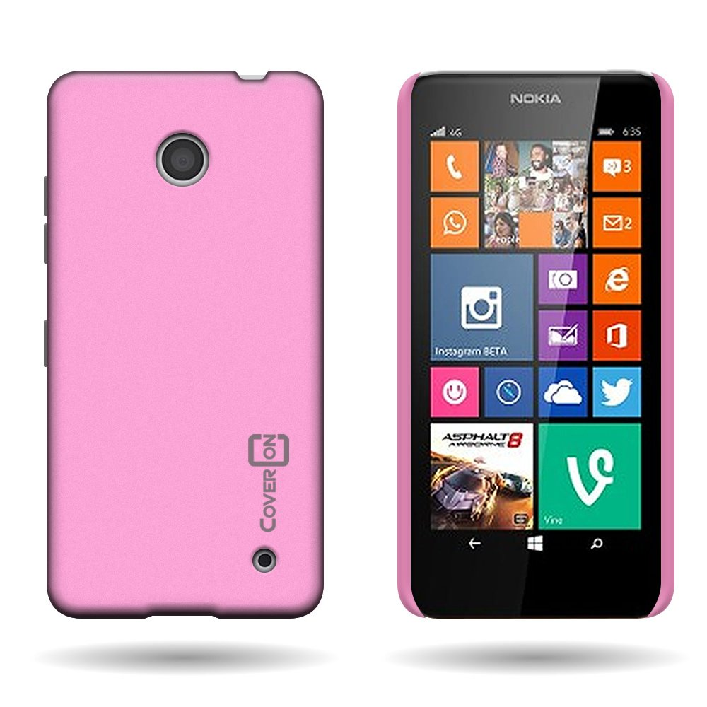 timeless design 35f92 bc93f Lumia 635 Case, CoverON for Nokia Lumia 635 Hard Case Slim Fit Back Cover  w/ Rubberized Coating - Baby Pink