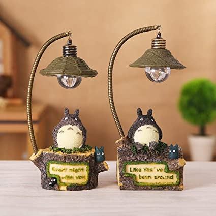 HJKLC Adorable Totoro LED luz Nocturna decoración romántica ...