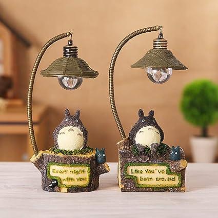 HJKLC Adorable Totoro LED luz Nocturna decoración romántica ...