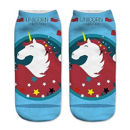 Calcetines tobilleros deportivos, de la marca Jysport, con estampado de unicornio, unicorn collection