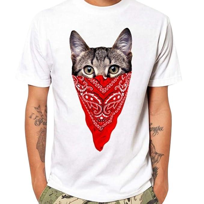 FONMA Summer Mens Tops Fashion Casual Letter Print Short Sleeve T-Shirt Blouse