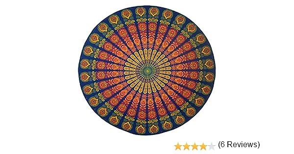 SCLM Toalla de Playa Tapiz Alfombrilla Picnic Jardín Viaje Hecha de Gasa Diseño India (color A): Amazon.es: Hogar