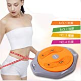 Top grade LCD digital display magnetic body twister figure trimmer slimming body fitness exercise trainer rotatable balance board disc timing accurate count weighs calculate calories (Orange)