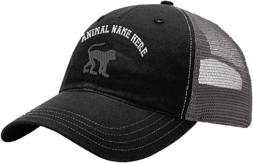 Custom Trucker Hat Richardson Monkey B Embroidery Animal Name Cotton Snaps