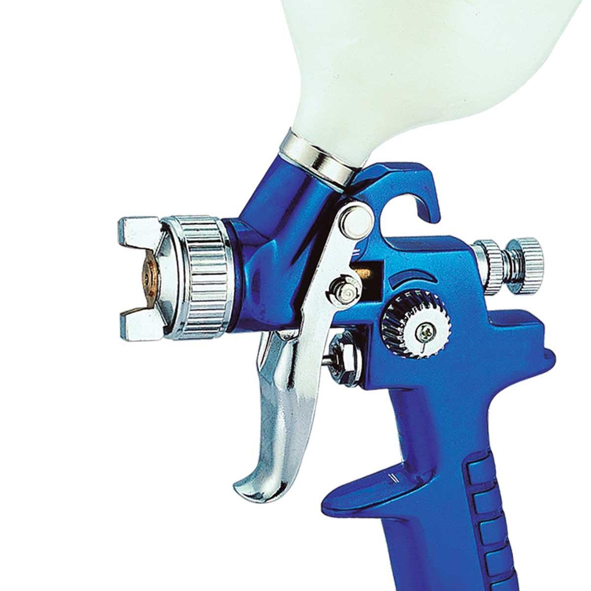 Pistola pequeña MINI de pintar para coche pintura compresor aire 100 ml - aguja de 0,8 mm: Amazon.es: Coche y moto