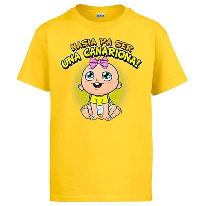 Camiseta nacida para ser una Canariona Las Palmas fútbol: Amazon.es: Ropa y accesorios