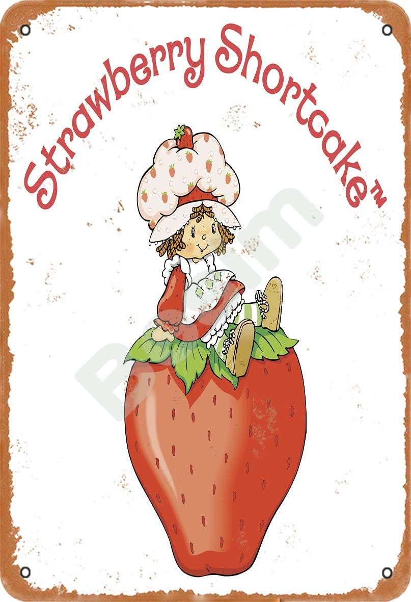 Besim Strawberry Shortcake Classic Vintage Metal Tin Signs For Cafe Pub Kitchen Street Home Retro Wall Decoration Everything Else Amazon Com
