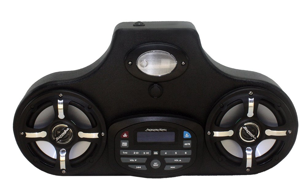 Froghead Industries AMPHIB552CLE Stereo for Yamaha Viking w/ LED Speakers, AM/FM, Bluetooth and USB chargng