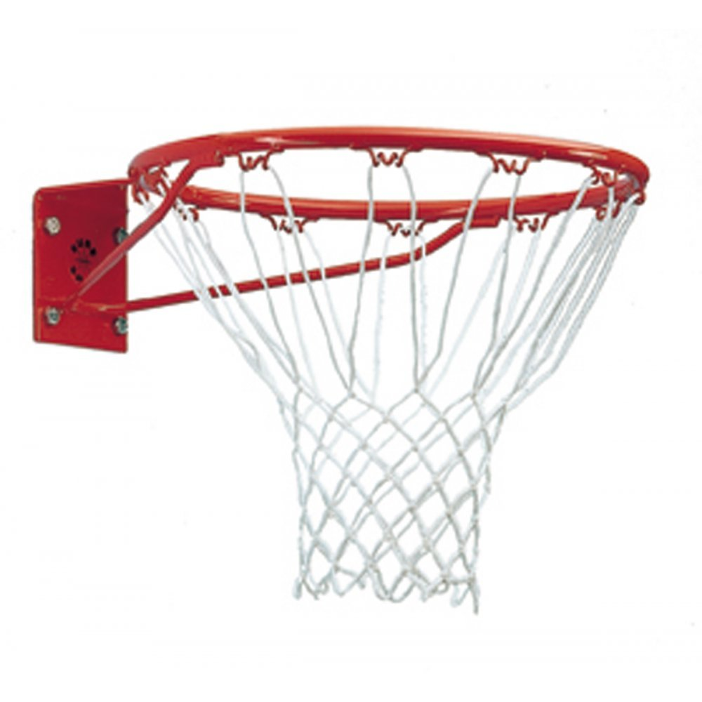 """Sure Shot Institutional Ring And Net 261 White 12 Loop Net 18/"""" Solid Steel Ring"""