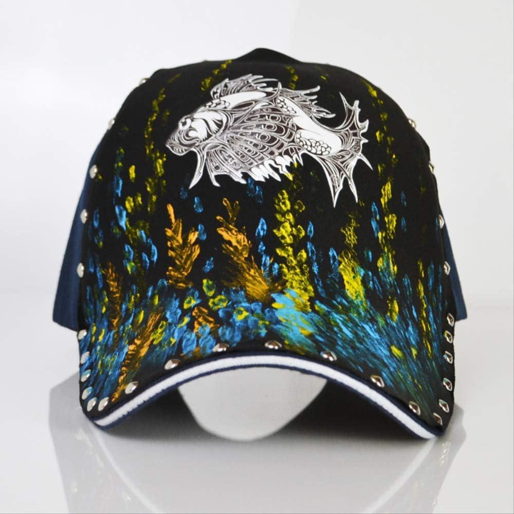 LJZXXK Gorra de béisbol Sombrero Pintado Personalizado pez Dorado ...