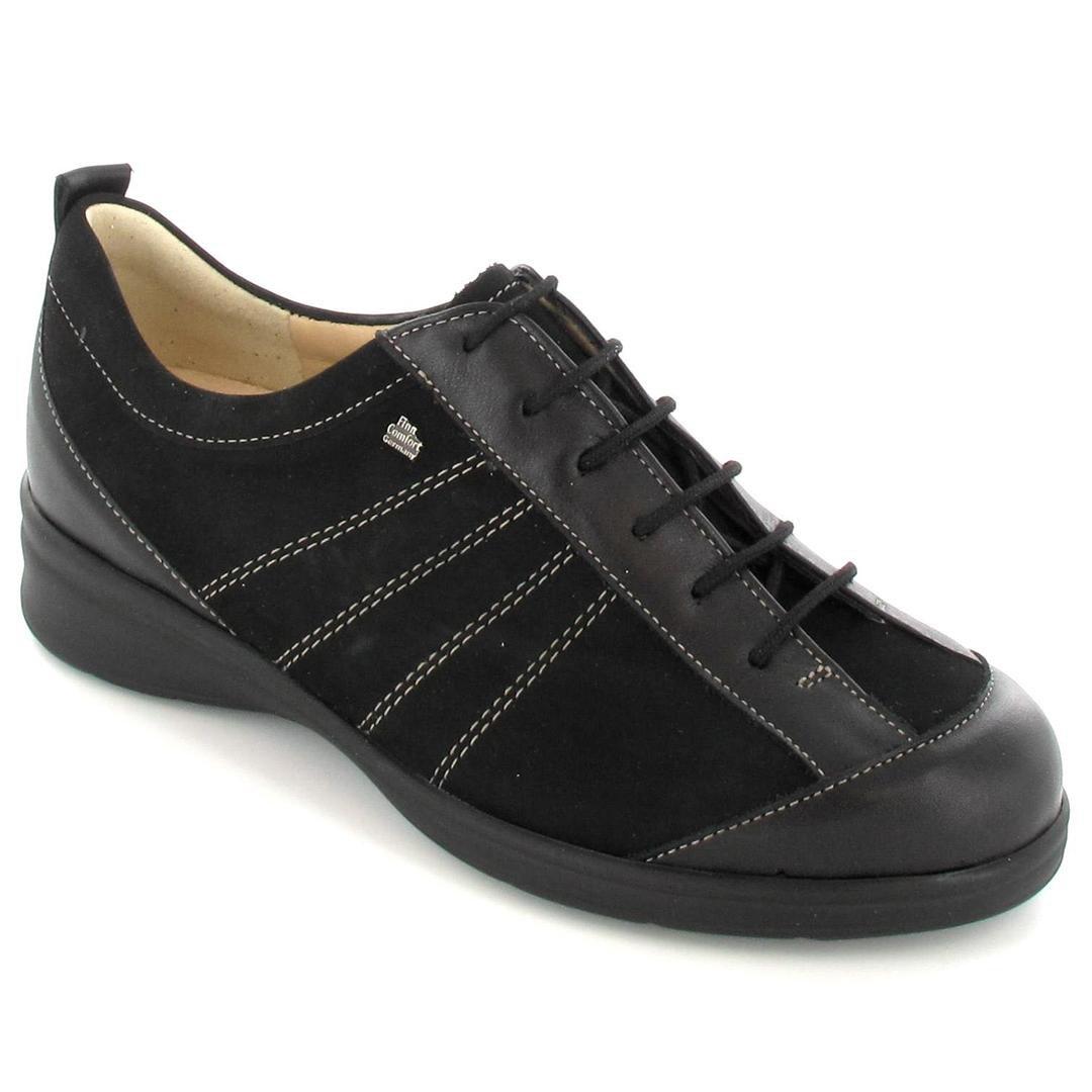 FINNCOMFORT - Zapatos de cordones de cuero para mujer 4|Negro
