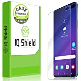IQ Shield Screen Protector Compatible with Galaxy S10 Plus (S10+ 6.4 inch)(2-Pack)(Case Friendly) Anti-Bubble Clear Film…