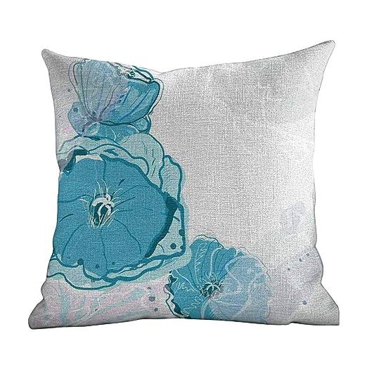 Fundas de Almohada con Cremallera, diseño Floral, Flores de ...
