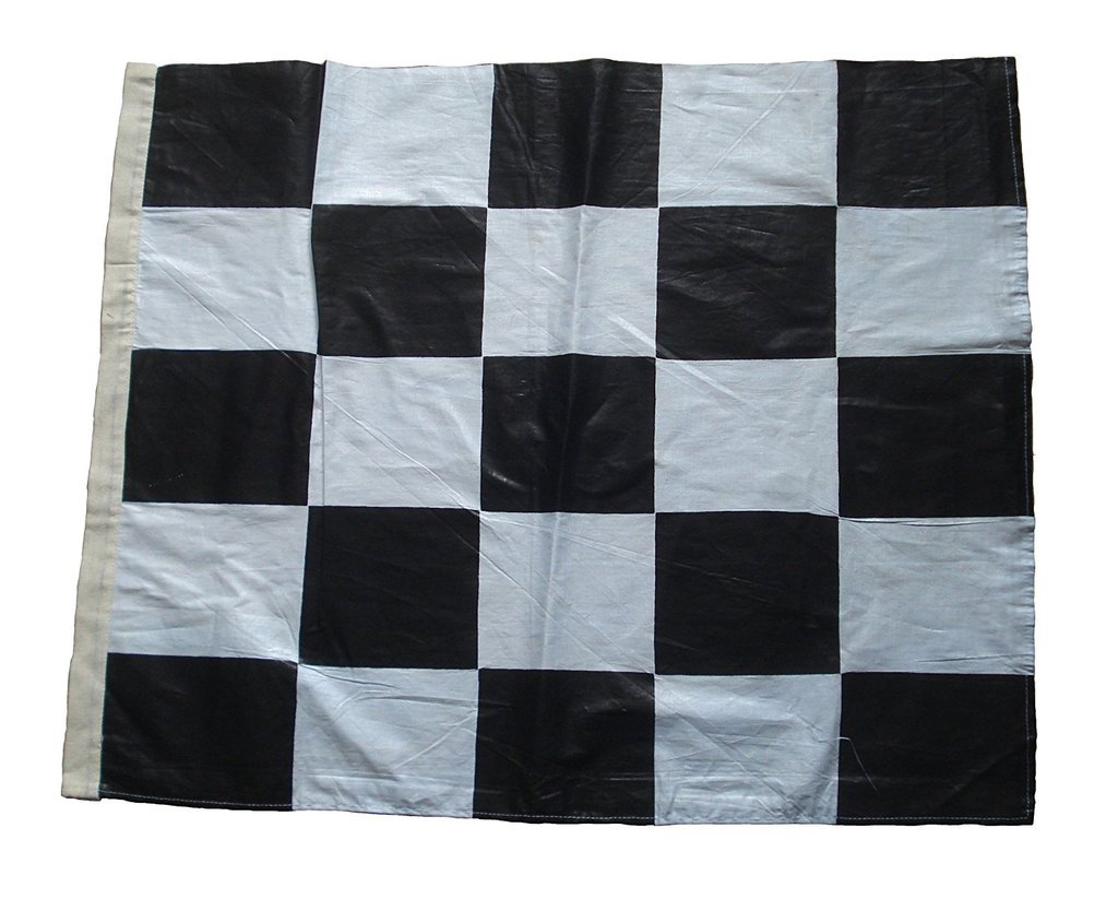 Amazon.com : Nascar Racing Flag - Black and White - 100% COTTON - 22 ...