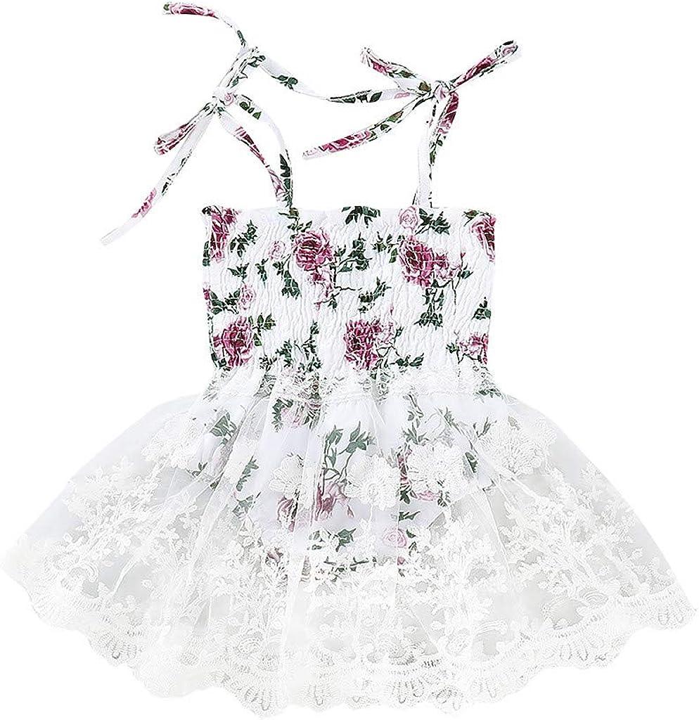 Baby Casual Dress,Fineser Girls Sleeveless Strap Solid Vest Dress Toddler Infant Cotton A-Line Skirt Sundress Summer