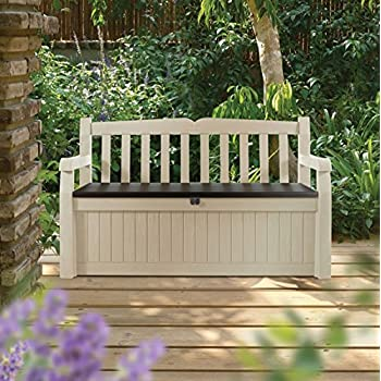KeterEden Outdoor Resin All Weather Plastic Seating U0026 Storage Bench