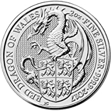 THE RED DRAGON OF WALES - THE QUEEN'S BEASTS - 2017 2 oz Silver Bullion Coin