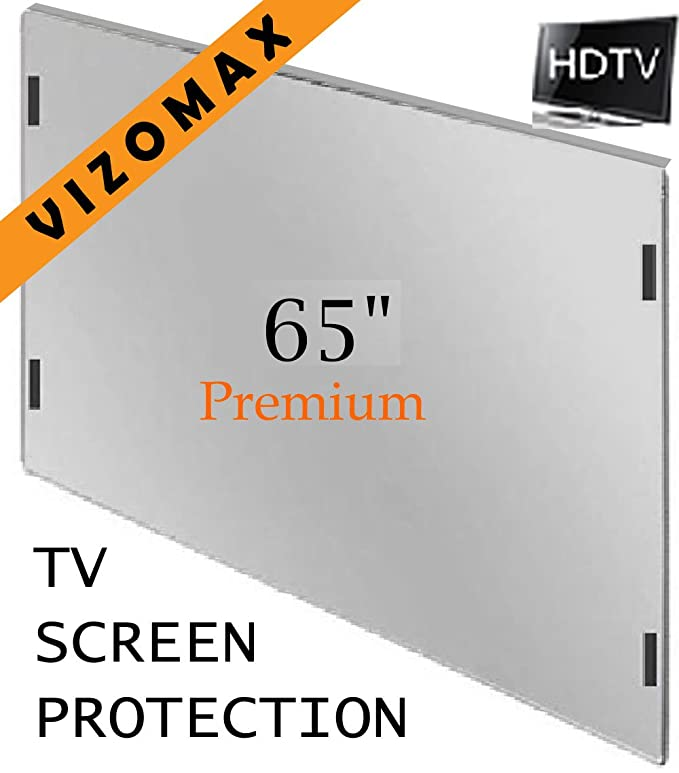 63-65 pulgadas Vizomax protector de pantalla de la televisor LCD LED Plasma HDTV. TV Screen Protector Cover Guard Shield