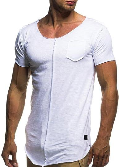 Venmo Hombre Personalidad Camisetas Deporte Ropa Deportiva Camisa de Manga Corta de Camuflaje Slim fit Casual para Hombres Tops Blusa T-Shirt Crew Neck tee: Amazon.es: Ropa y accesorios