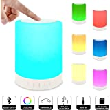 ZHOPPY Night Light Bluetooth Speaker, Touch Control Bedside Lamp Portable Table Lamp Color LED Outdoor Speaker Light Music Player Birthday Gifts