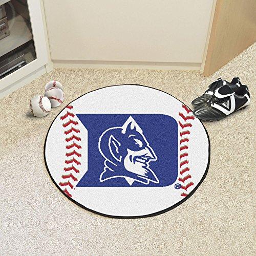 Fanmats Duke Blue Devils Baseball-Shaped Mat ()