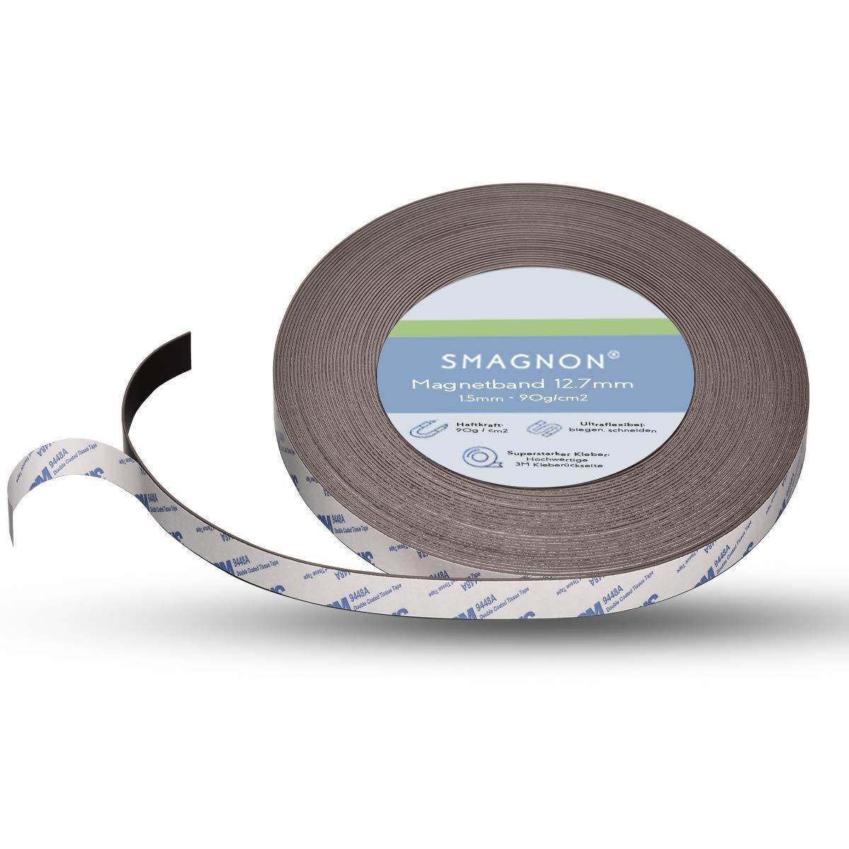 roh Magnetband 1,5mm x 25,4mm x Meterware  Magnetfolie selbstklebend  Typ A